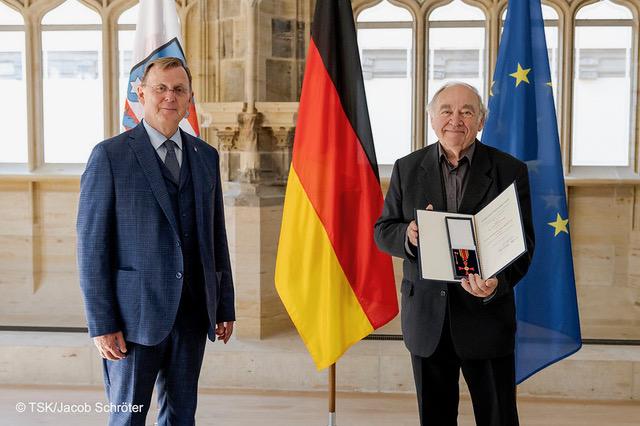 Verleihung des Bundesverdienstorden am Bande an Dr. Christoph Schwabe